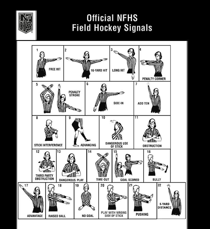 NFHS Field Hockey Signals
